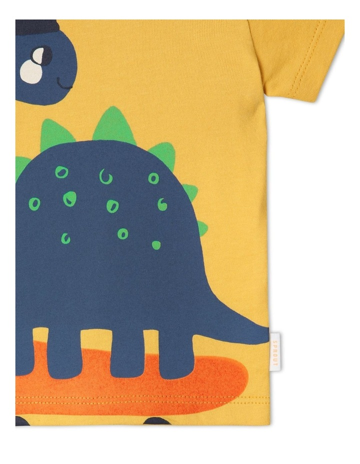 Essential Skater Dino T-Shirt Yellow image 4