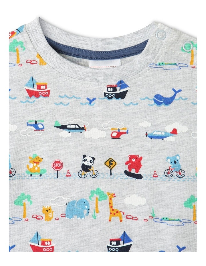 """Essential """"Are We There Yet"""" T-Shirt Grey Marle image 2"""