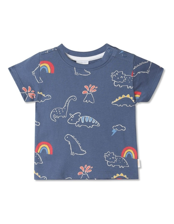 Essential Sketchy Dino Mid T-Shirt Blue image 1