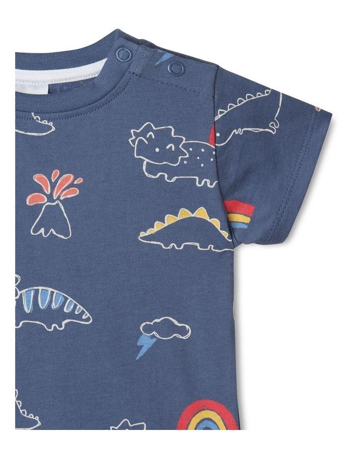 Essential Sketchy Dino Mid T-Shirt Blue image 3