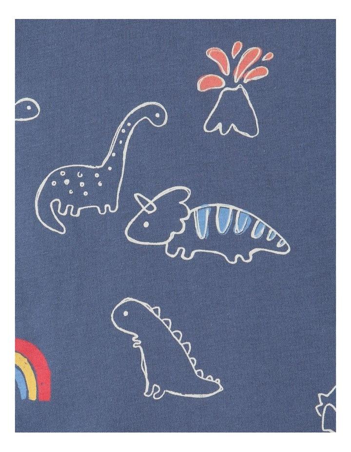 Essential Sketchy Dino Mid T-Shirt Blue image 4