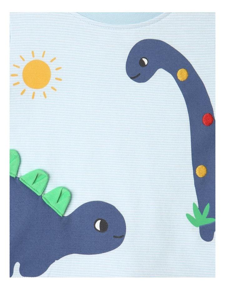 Dino Stripe T-Shirt Light Blue image 2