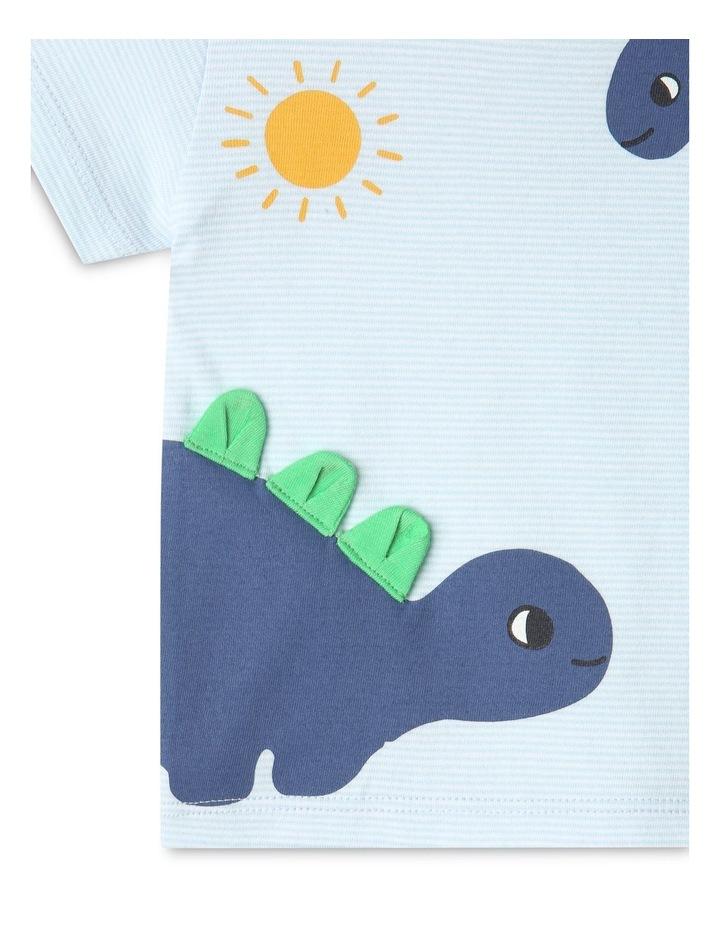 Dino Stripe T-Shirt Light Blue image 4