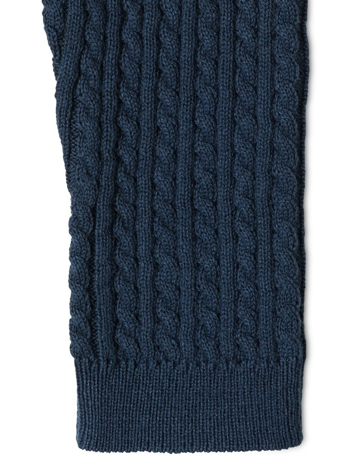 Organic Navy Cable Knit Legging image 3