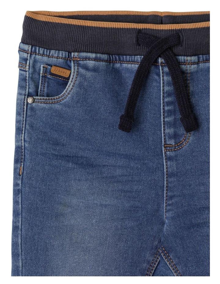 Damon Indigo Knit Denim Jean image 2