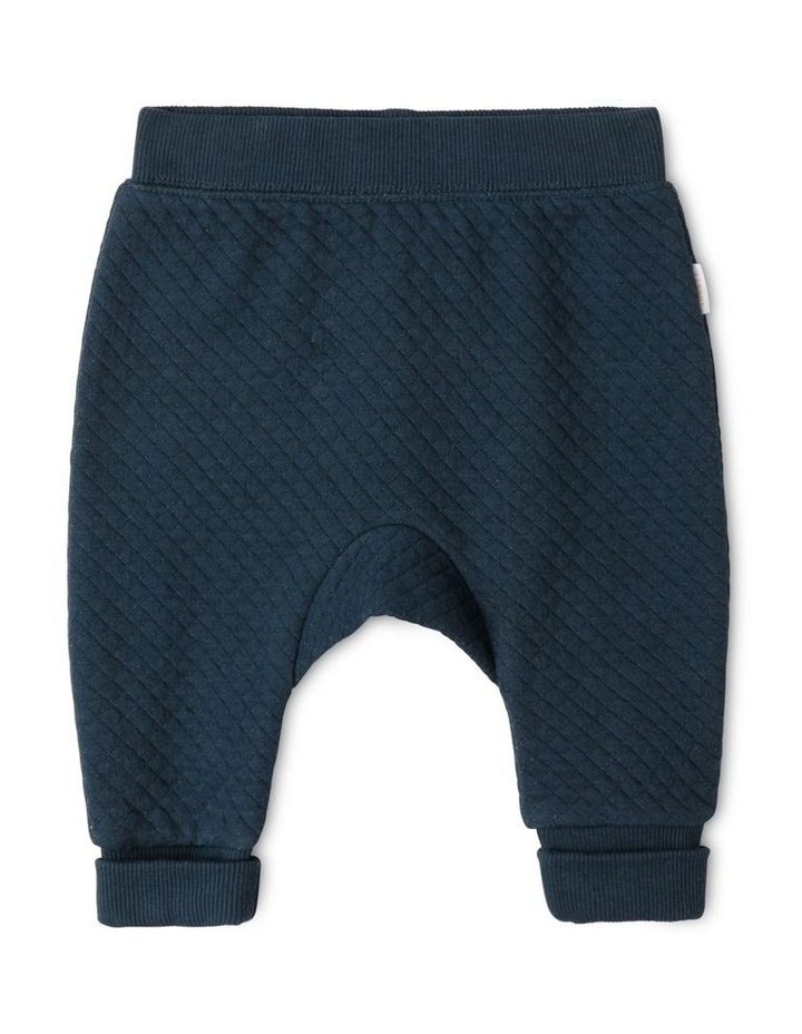 Organic Essential Quilted Trackpants - Navy image 1