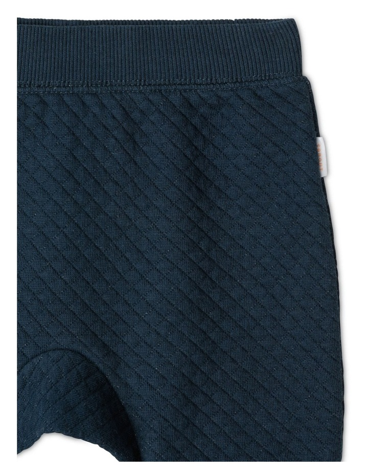 Organic Essential Quilted Trackpants - Navy image 2