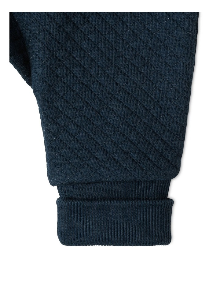 Organic Essential Quilted Trackpants - Navy image 3