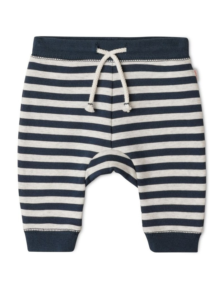 Organic Essential Block Stripe Drawstring Trackpant image 1