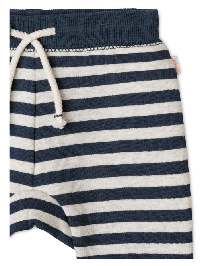Organic Essential Block Stripe Drawstring Trackpant image 2