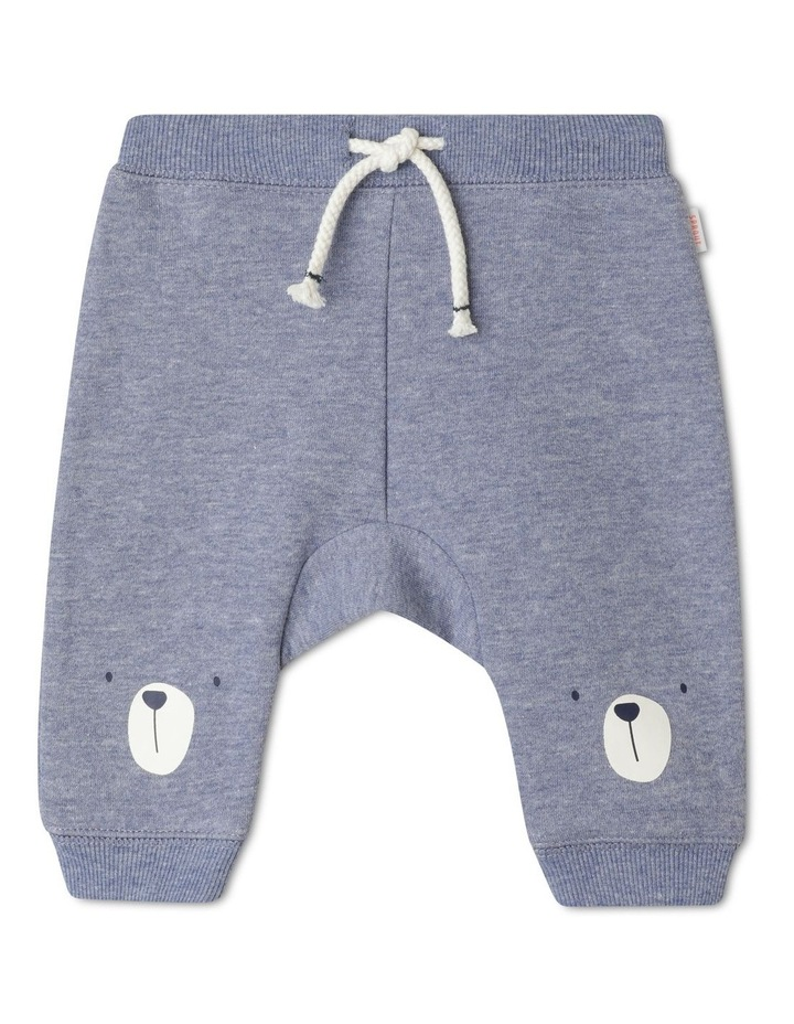Organic Essential Bear Face Knees Drawstring Trackpant image 1