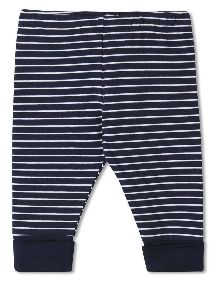 Essential Striped Organic Legging Navy image 1