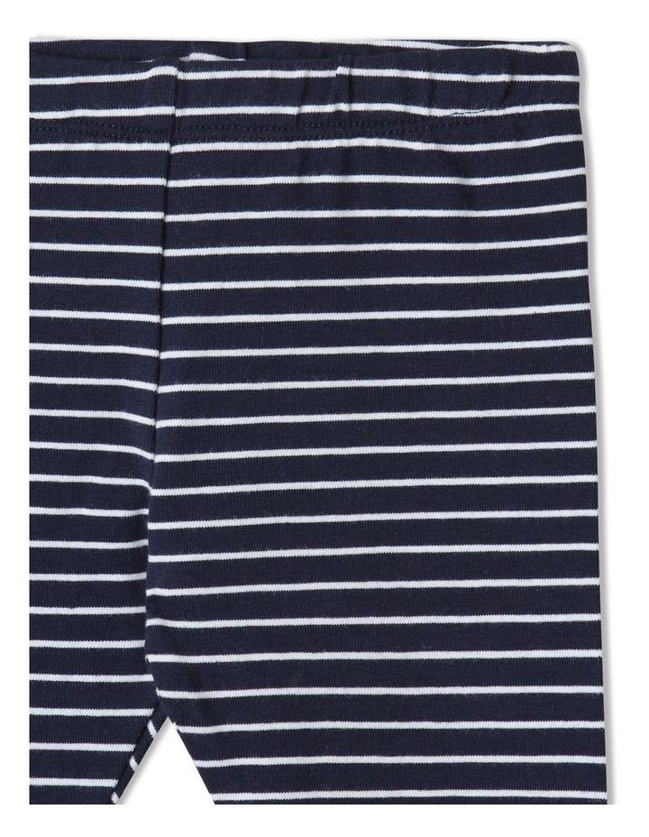 Essential Striped Organic Legging Navy image 2