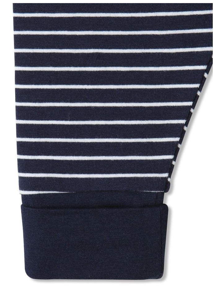 Essential Striped Organic Legging Navy image 3