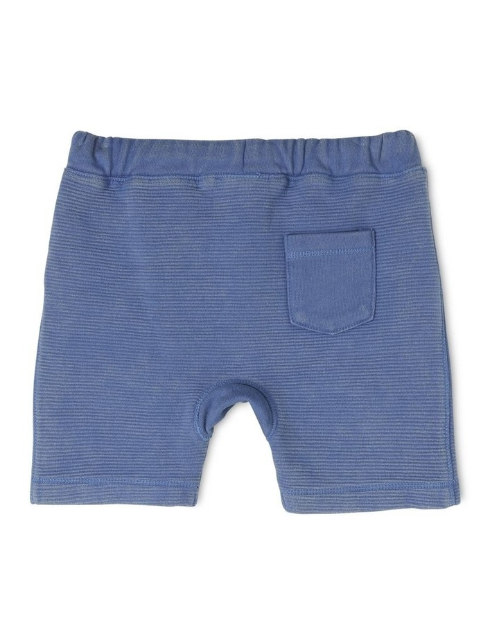Boys Knit Ottoman Short With Kanga Pocket image 2