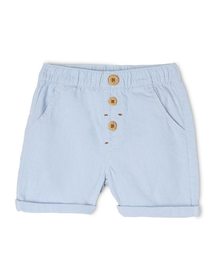 Pull-On Yarn-Dyed Chino Shorts image 1