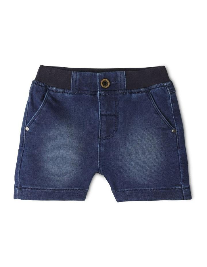 Ribbed Waist Denim Shorts image 1