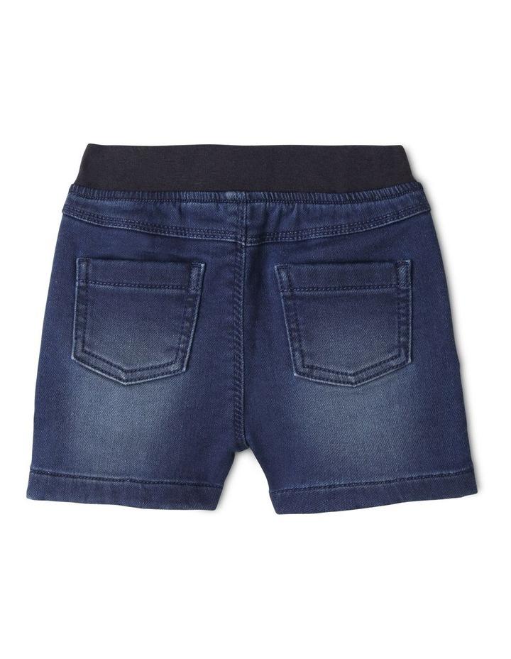 Ribbed Waist Denim Shorts image 2