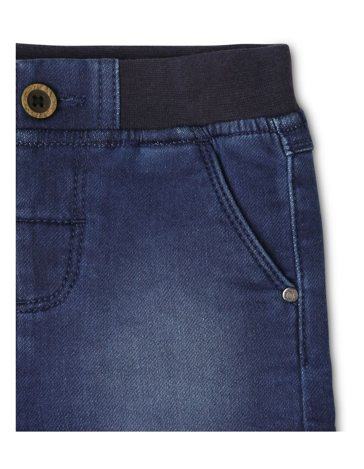 Ribbed Waist Denim Shorts image 3