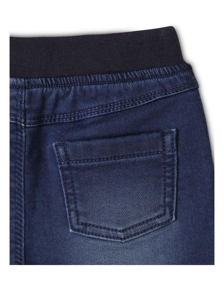 Ribbed Waist Denim Shorts image 4