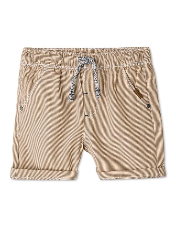 Essential Drawstring Yarn-Dye Shorts image 1
