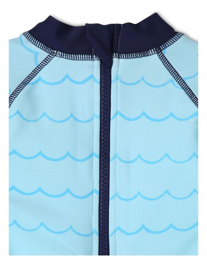 Short-Sleeve Swimsuit - Crab Emblem/Blue image 5