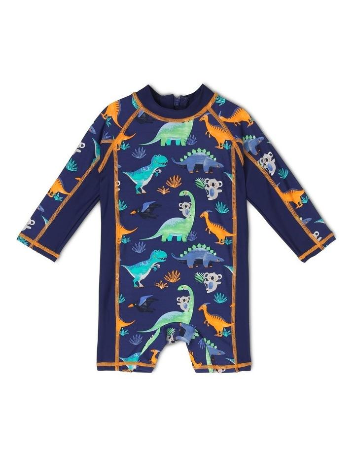 Long-Sleeve Swimsuit - Dino Watercolour image 1