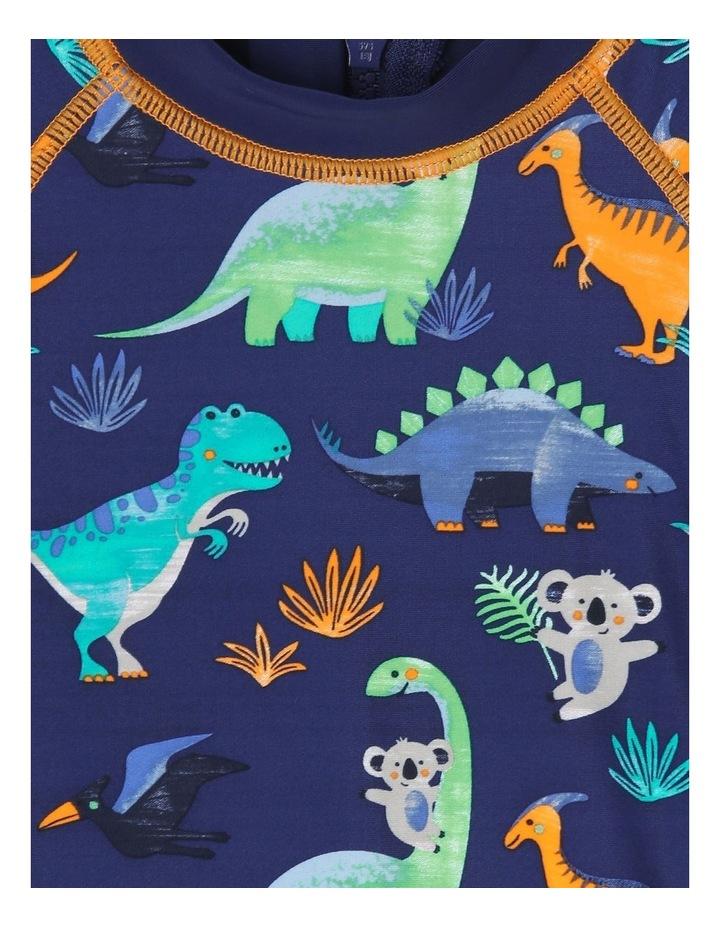 Long-Sleeve Swimsuit - Dino Watercolour image 2