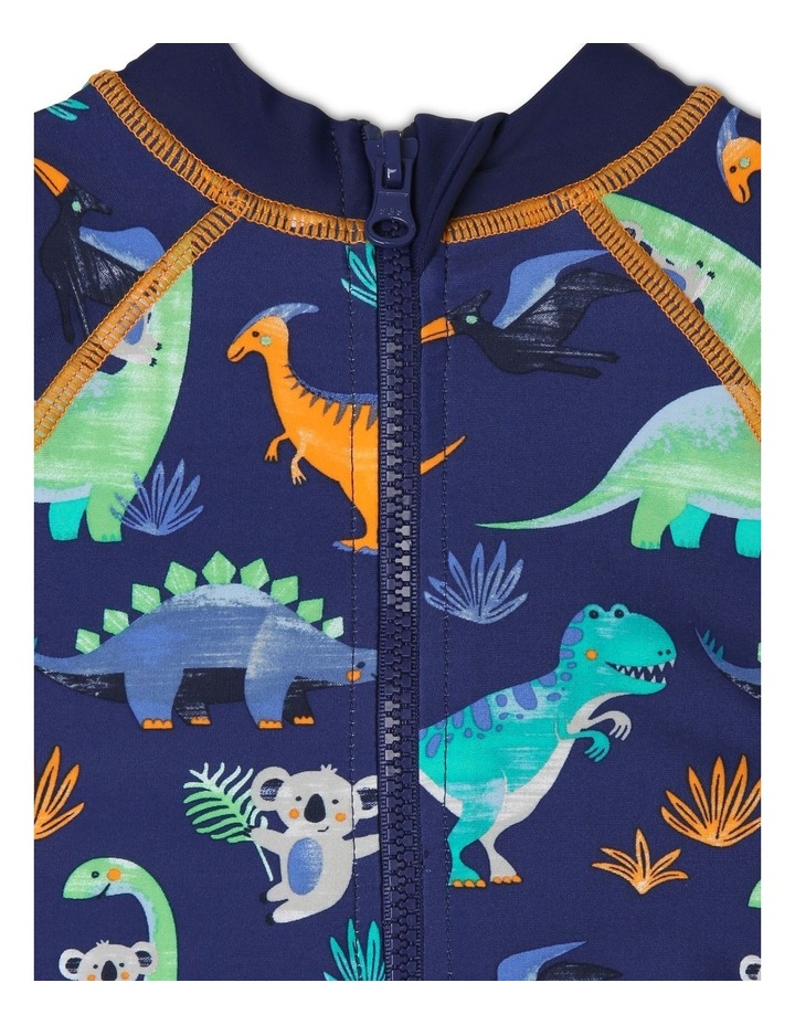Long-Sleeve Swimsuit - Dino Watercolour image 3