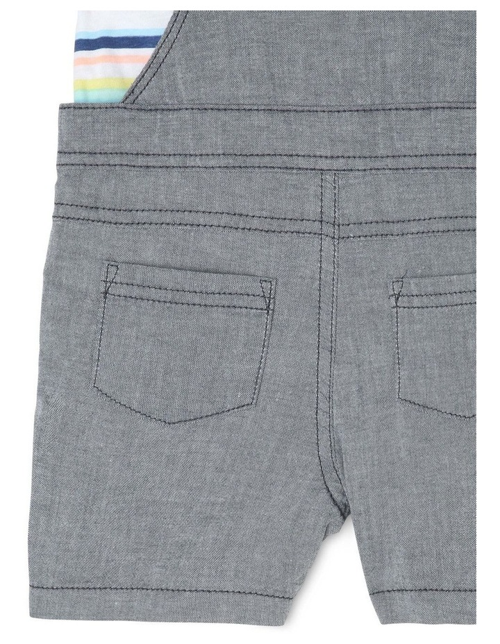 Chambray Woven T-Shirt & Overalls Set image 4