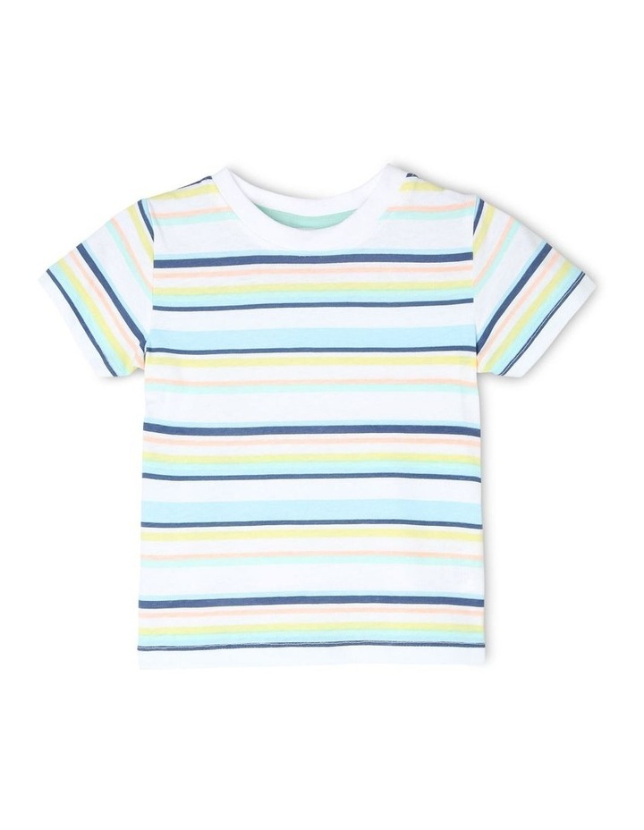 Chambray Woven T-Shirt & Overalls Set image 5