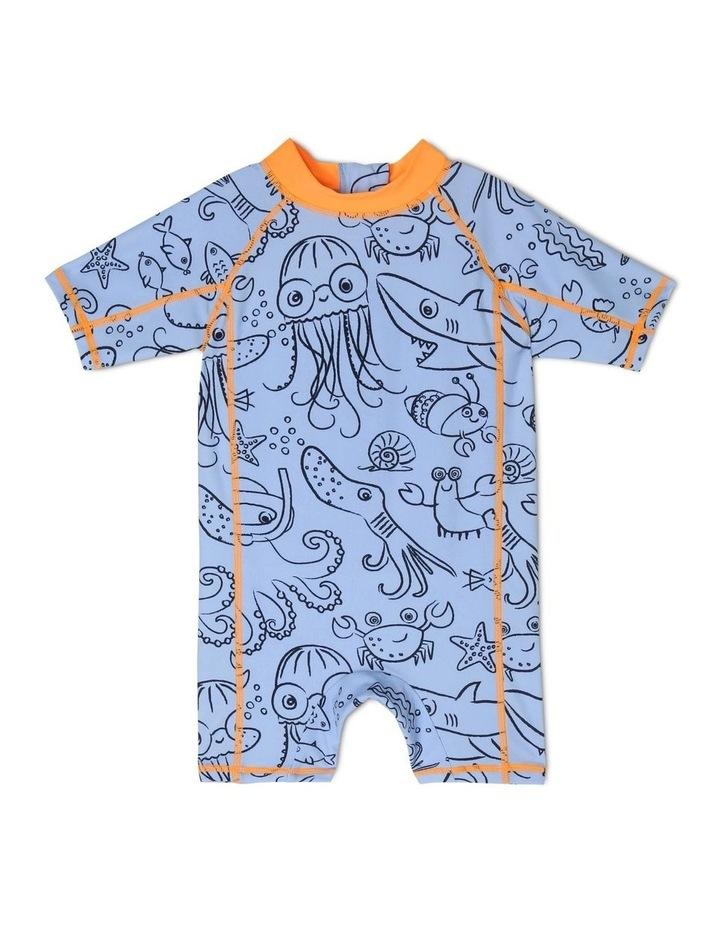 Short-Sleeve Crab Swimsuit image 1