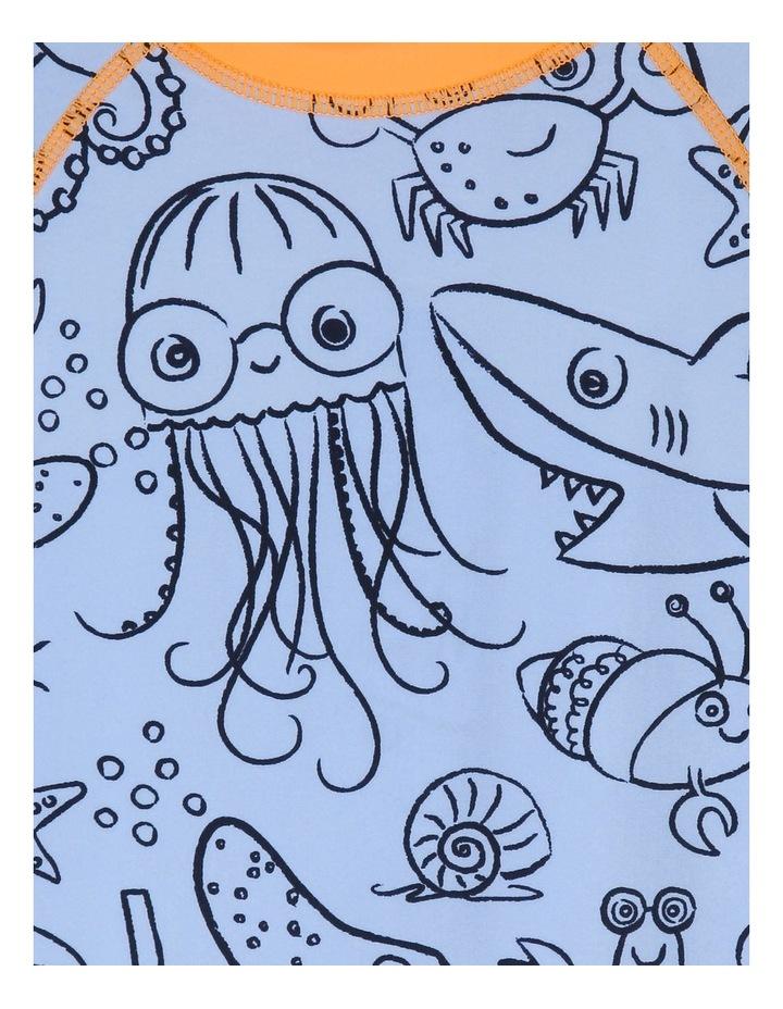 Short-Sleeve Crab Swimsuit image 2