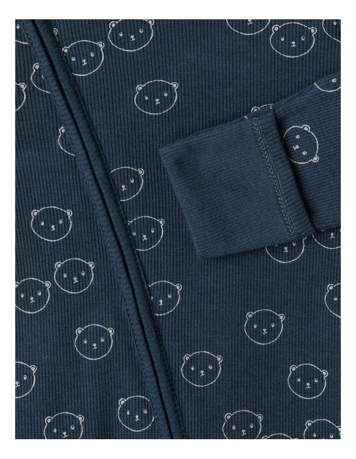 Organic Essential Rib Little Bear Coverall image 3
