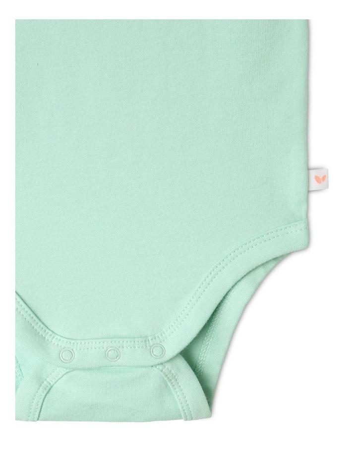Organic Essential 2-Piece Bodysuit Set in Sage image 7