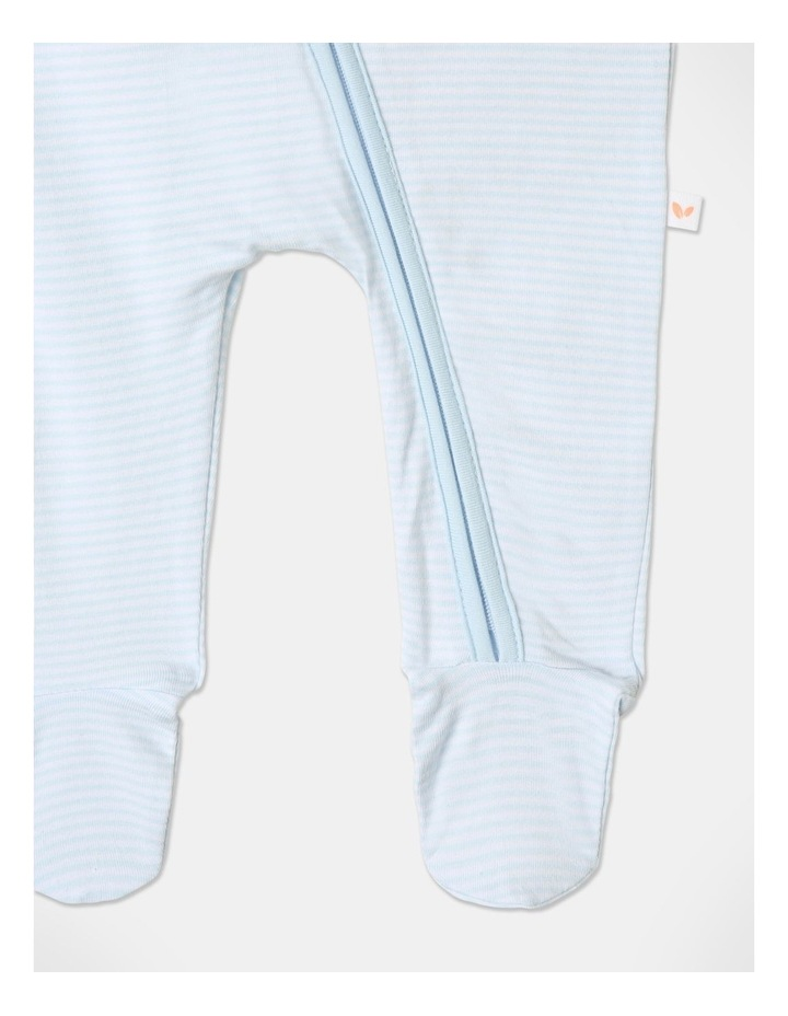 Organic Essential Dino Coverall Set in White image 6