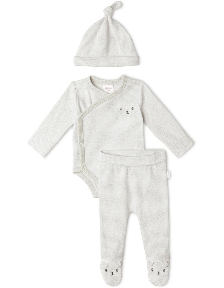 Maurice 3-Piece Bodysuit Set in Grey Marle image 1