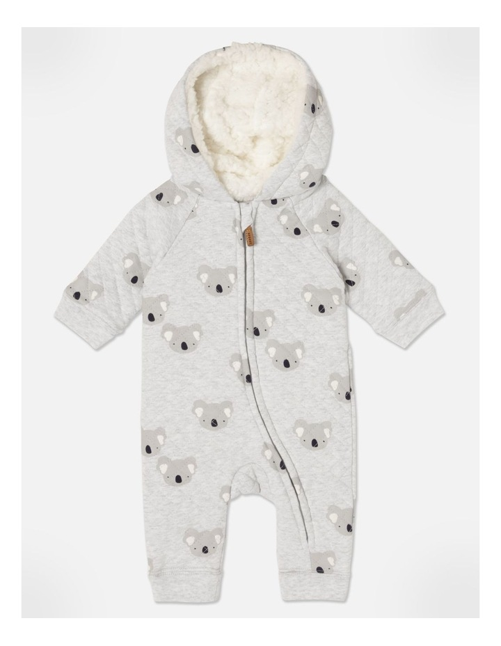 Koala Quilted Coverall Grey Marle image 1