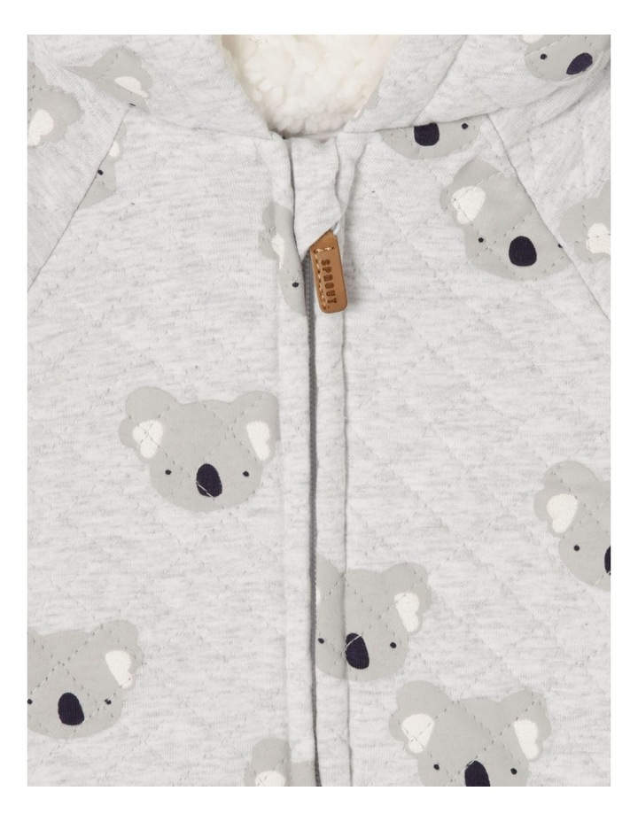 Koala Quilted Coverall Grey Marle image 3