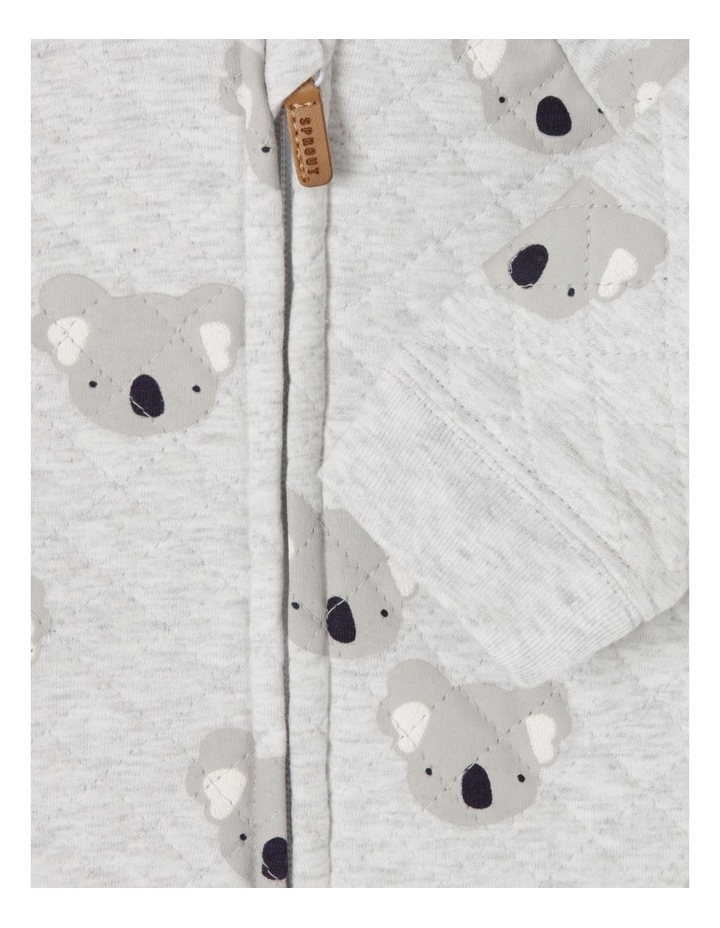Koala Quilted Coverall Grey Marle image 4