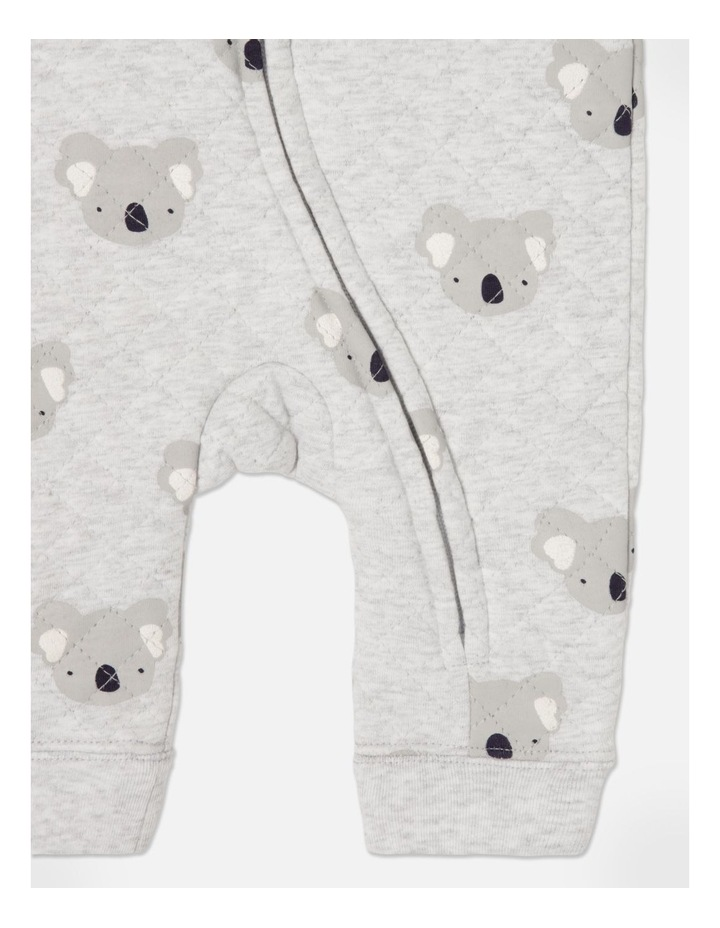 Koala Quilted Coverall Grey Marle image 5