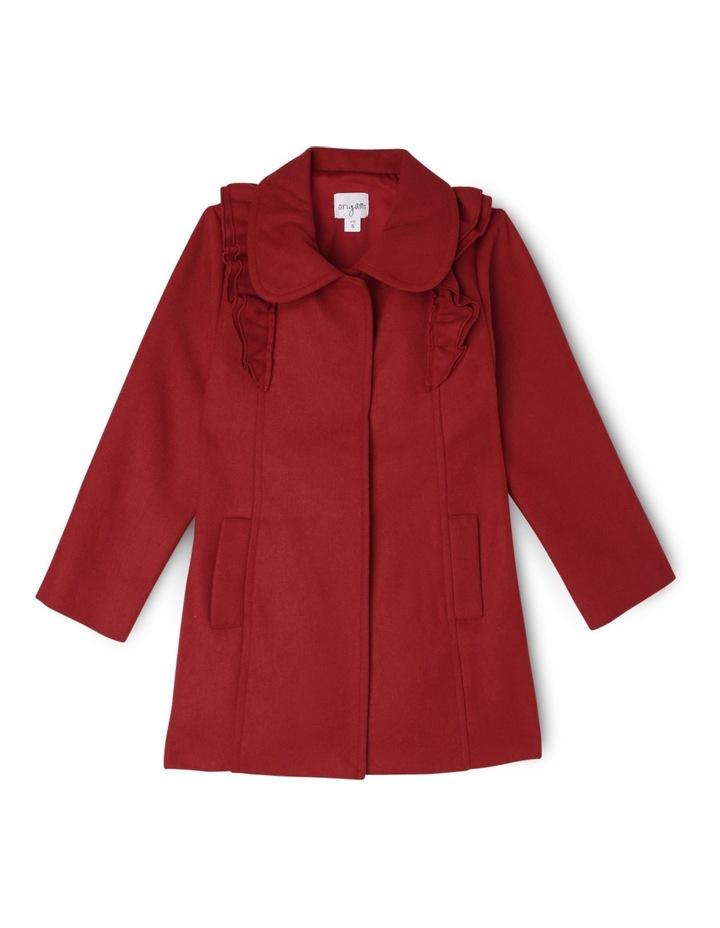 Ruffle Coat - Red 3-8 image 1
