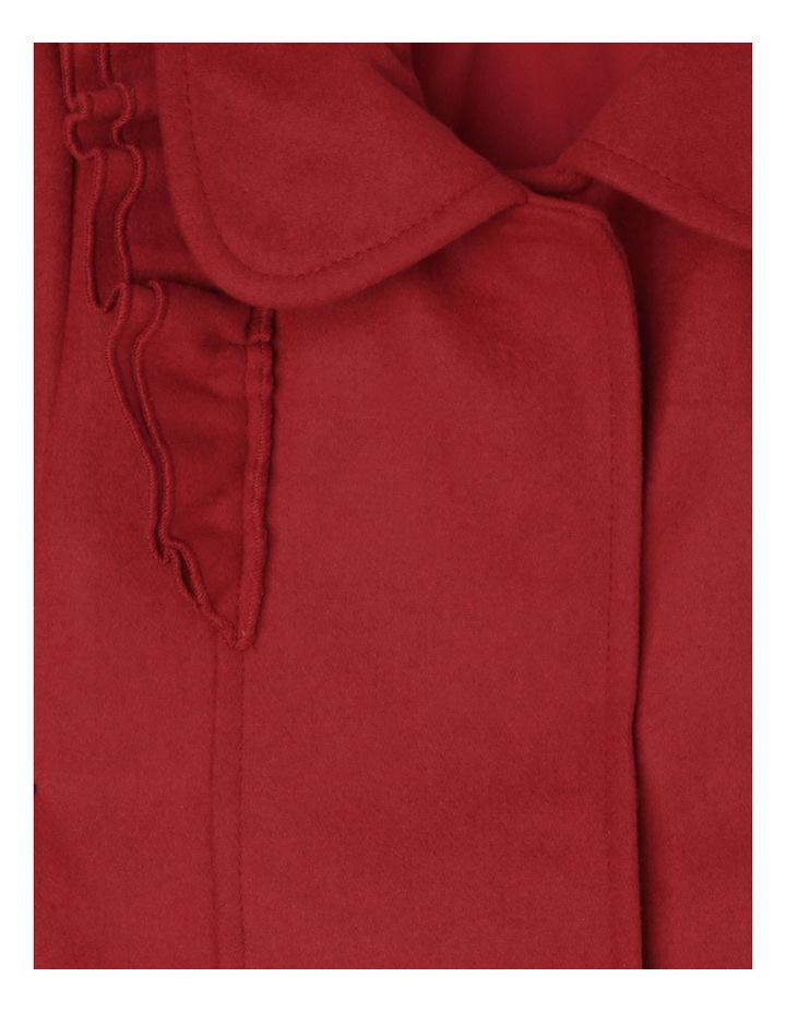 Ruffle Coat - Red 3-8 image 2