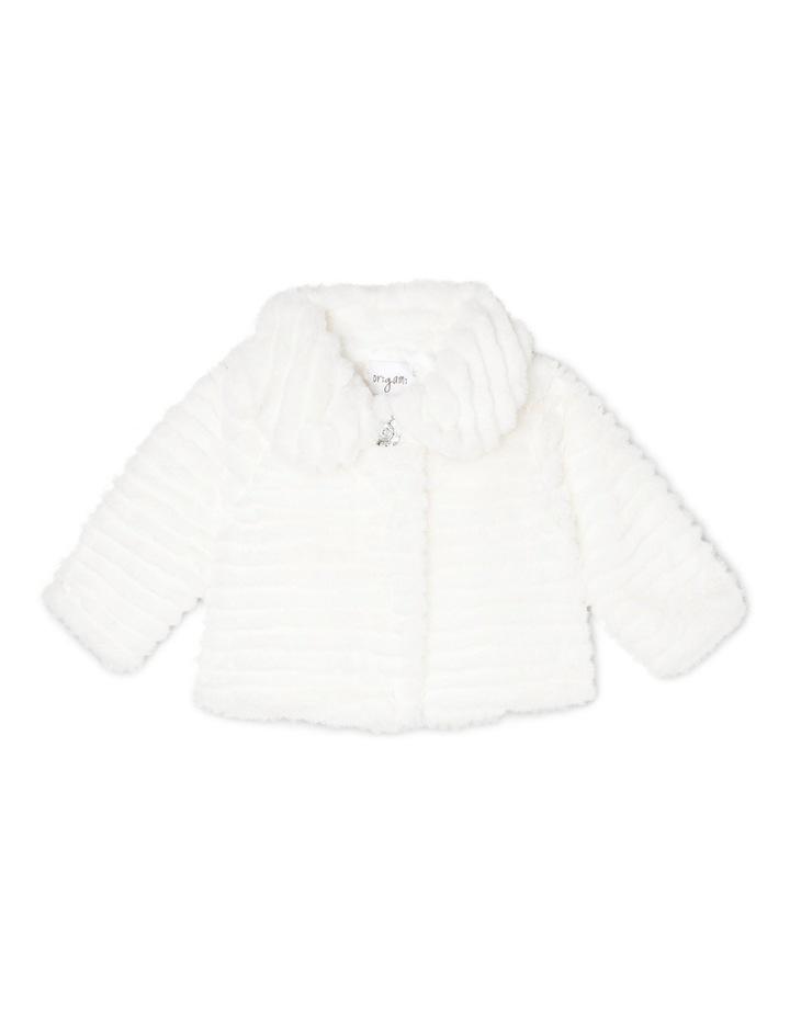 Faux Fur Jacket - Pearl 0-2 image 1