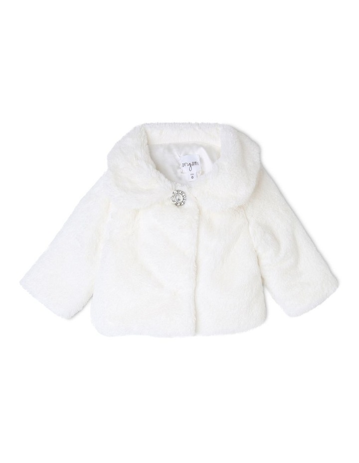 Ava Faux Fur Jacket (9-16 Years) image 1