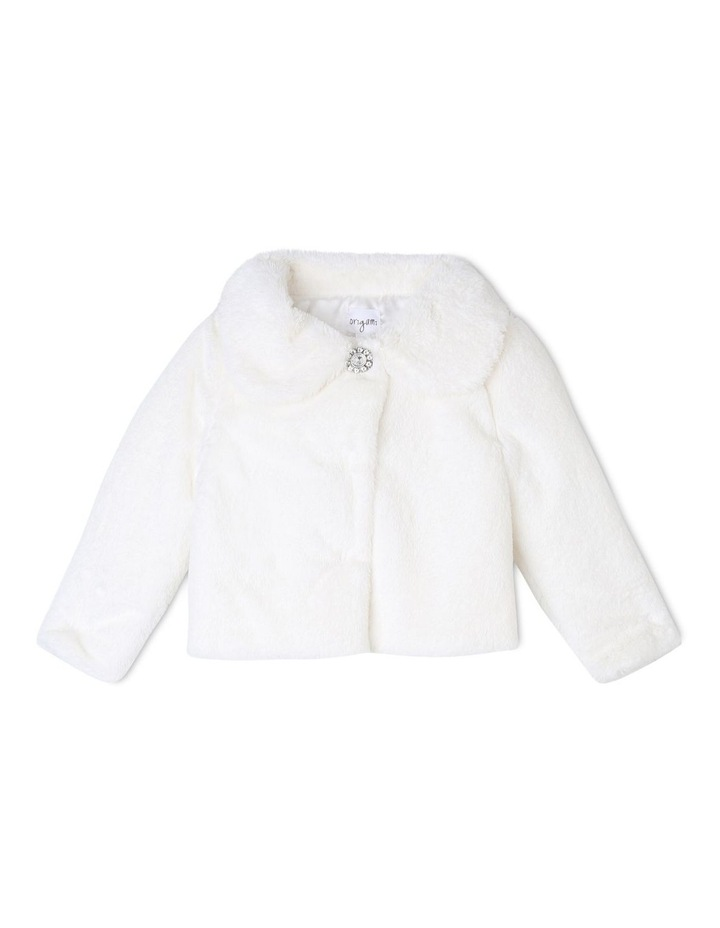 Ruby Shimmer Faux Fur Jacket (3-8 Years) image 1