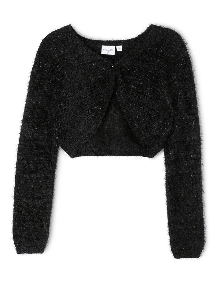 Fluffy Knit Shrug 9-16 image 1