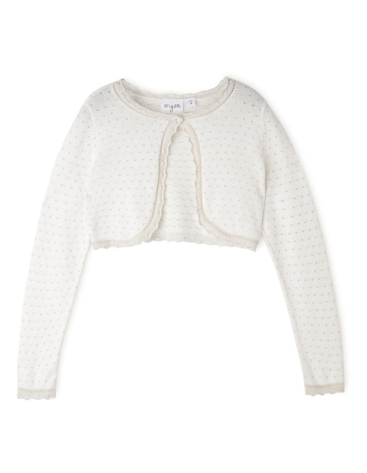 CAITIE SPARKLE KNITTED CARDIGAN (3-8 YEARS) image 1