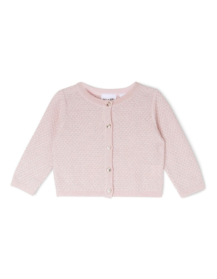 MIA SPARKLE KNITTED CARDIGAN (0-2 YEARS) image 1