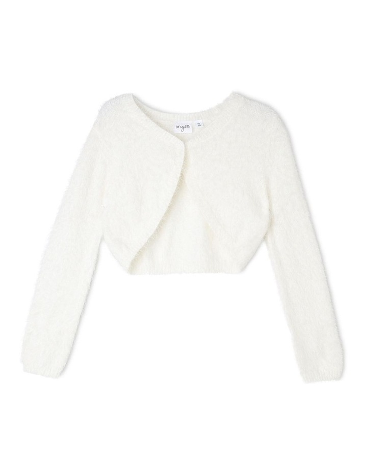 Lily Cropped Fluffy Cardigan (9-16 Years) image 1